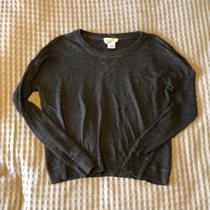 SO Grey Knit Light Weight Sweater